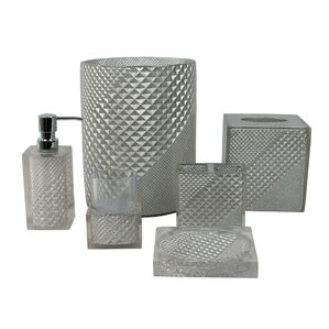 black glitter bathroom accessories. Prizm 6 Piece Bathroom Accessory Set Bath Sets You ll Love