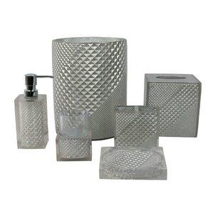 Prizm 6 Piece Bathroom Accessory SetBath Accessory Sets You ll Love. White And Grey Bathroom Accessories. Home Design Ideas