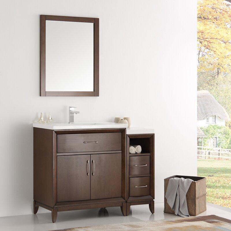 "Traditional Bathroom Vanities fresca cambridge 42"" single traditional bathroom vanity set with"