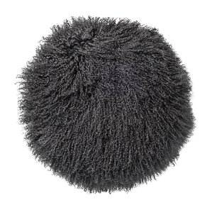 mongolian lamb faux fur throw pillow