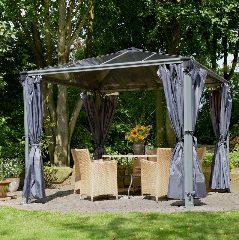 palram 270 5 cm x 270 5 cm feststehender pavillon palermo. Black Bedroom Furniture Sets. Home Design Ideas