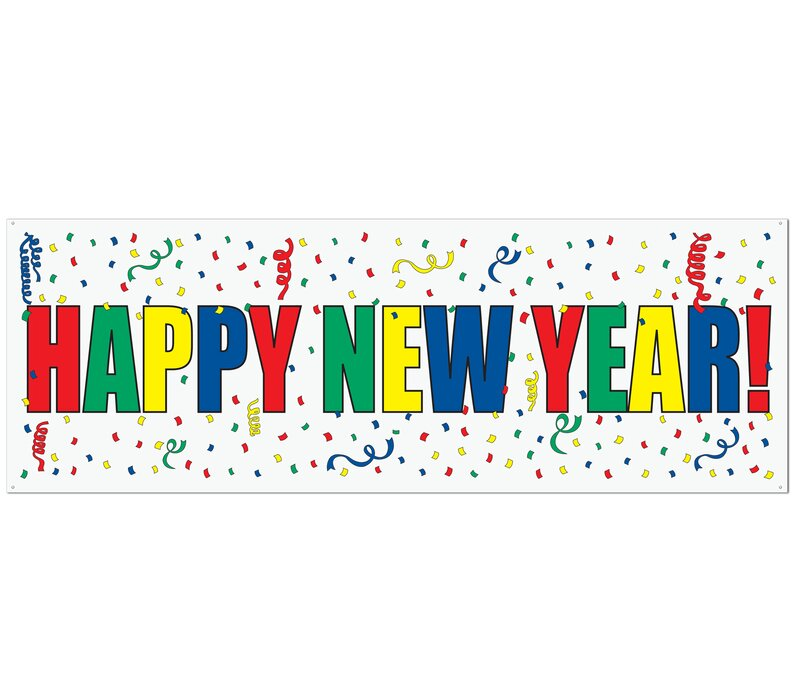The Holiday Aisle New Years Happy New Year Sign Banner | Wayfair