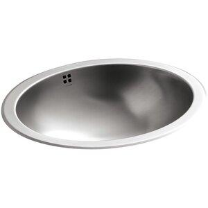 Bachata Metal Oval Undermount Bathroom Sink with Overflow