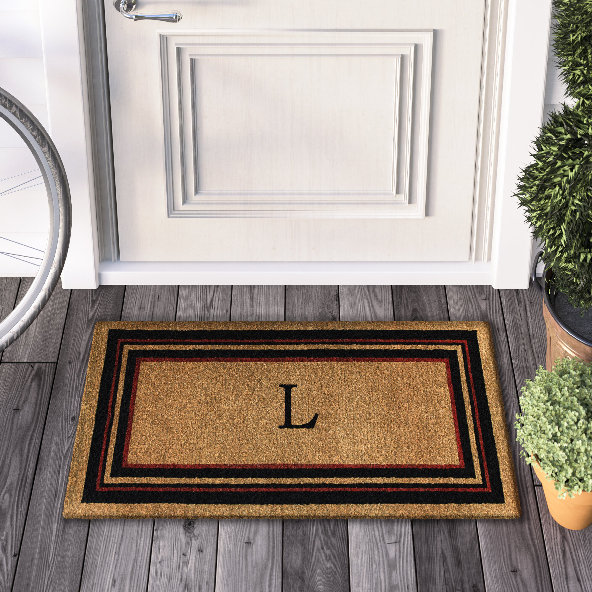 gift seahorse front il beach rug personalized monogram gifts doormat custom mat wedding door house listing ideas fullxfull monogrammed