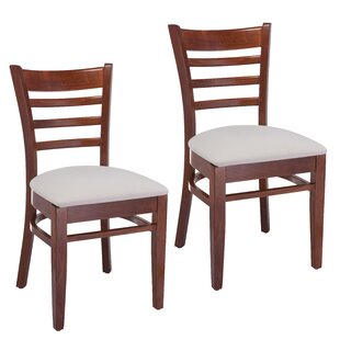 Delrick Wood Upholstered Dining Chair (Set of 2)