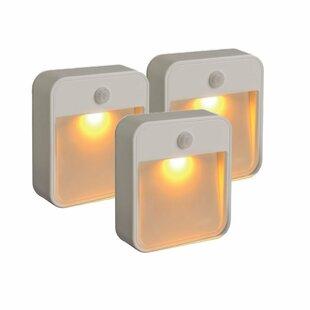 Motion LED Sensing Sleep Friendly Security Stick Anywhere Night Light (Set of 3)