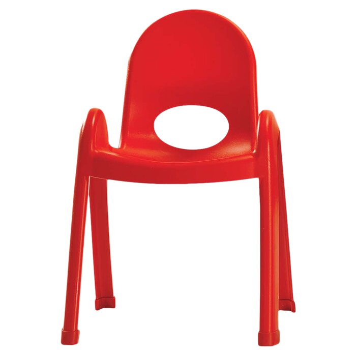 Orange Plastic Chair angeles value stack plastic classroom chair & reviews | wayfair