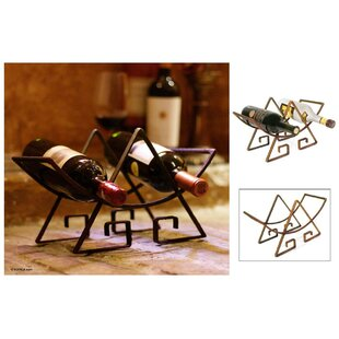 Buckingham Steel Metallic 2 Bottle Tabletop Wine Bottle Rack