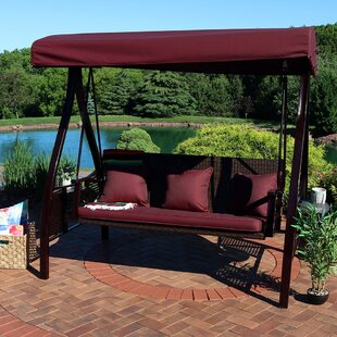 Baylen Steel Frame Cushioned Porch Swing With Stand