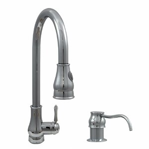 Touchless Single Handle Kitchen Faucet and Soap Dispenser