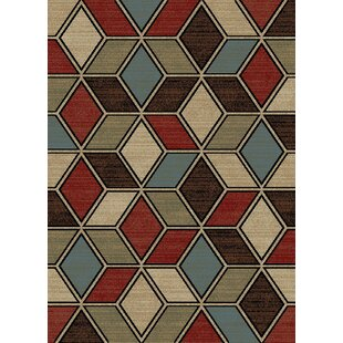 New York Cube Brown Area Rug