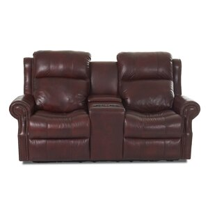 Defiance Leather Reclining Sofa by Red Barrel Studio