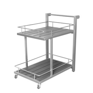 Darion Utilitarian and Sleek Aluminum Bar Cart