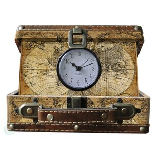 Old world map table wayfair small old world map suitcase clock gumiabroncs Images