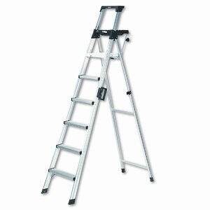 8 ft Aluminum Folding Step Ladder with 300 lb. Load Capacity