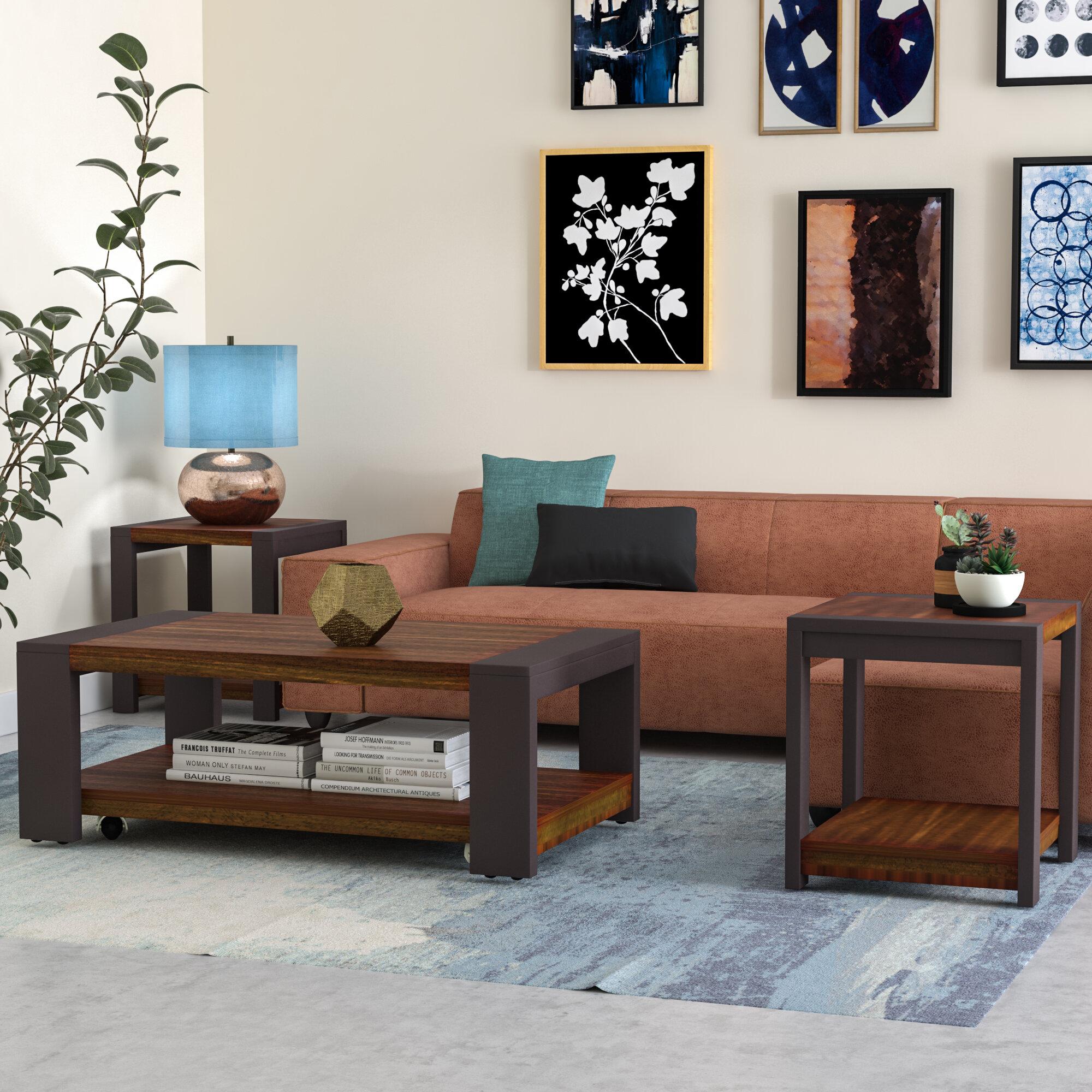 Brayden Studio Hayley 3 Piece Coffee Table Set & Reviews