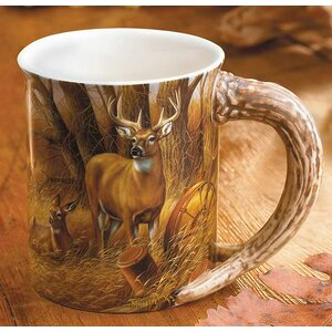 Rustic Retreat Whitetail Sculpted Gift Mug