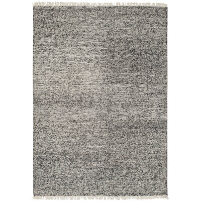 Brayden Studio Mcdavid Hand Woven Silk Black Area Rug Rug Size: Rectangle 6' x 9'
