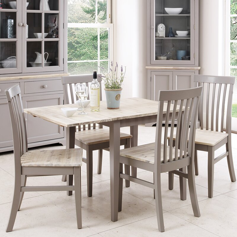 Of Set Chairs 4 Brownfoldingdining: Breakwater Bay Chatham Folding Dining Set With 4 Chairs