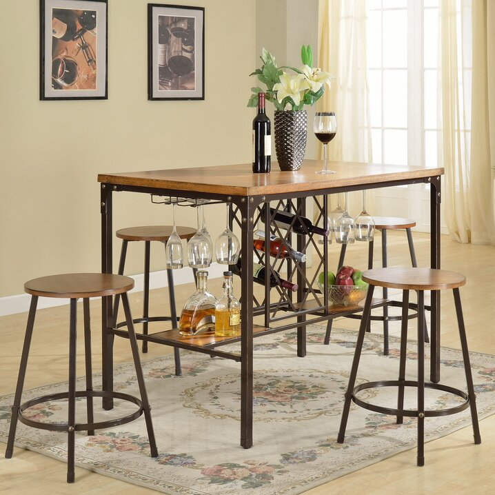 Latitude Run Calla 5 Piece Pub Table Set Reviews