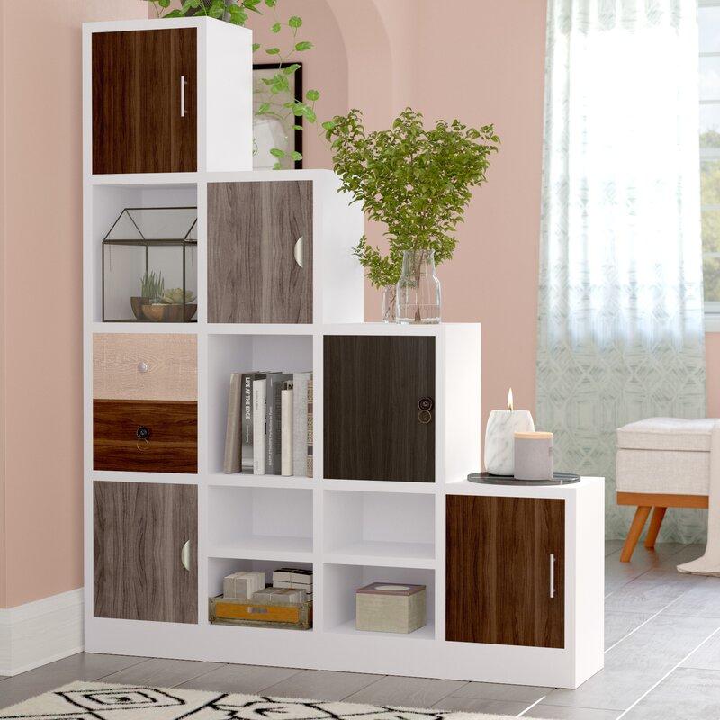 Brayden Studio Adriane Step Bookcase & Reviews | Wayfair