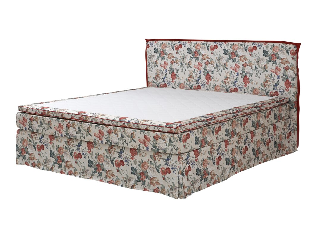 atlantic home collection boxspringbett alissa mit topper. Black Bedroom Furniture Sets. Home Design Ideas