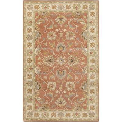 Arden Burnt Orange Tufted Wool Area Rug