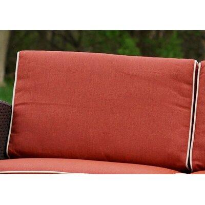 Brayden Studio Loggins Outdoor Sofa Cushion Cover Set Color: Orange