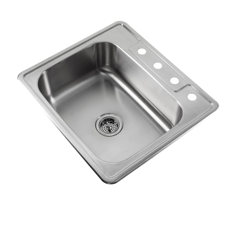 Soleil 25 x 22 stainless steel drop in single bowl kitchen sink 25 x 22 stainless steel drop in single bowl kitchen sink with faucet workwithnaturefo