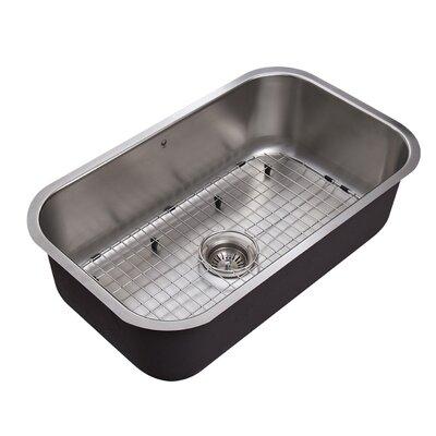 30 inch undermount 18 gauge stainless steel kitchen sink