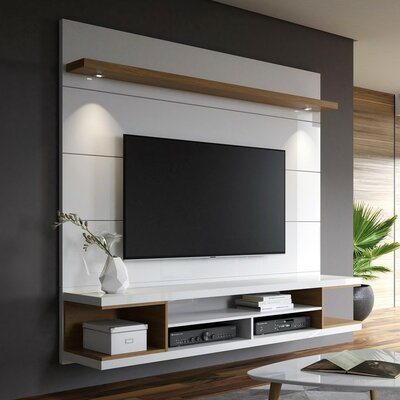 Floating tv stands entertainment centers you 39 ll love - How high to hang tv in living room ...