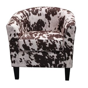 Cow Spot Print Barrel Chair by Container
