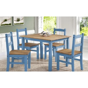 Rodgers Solid Wood 5 Piece Dining Set