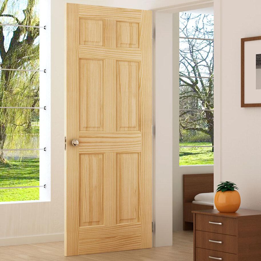 KIBY Colonial Solid Wood Panelled Pine Slab Interior Door U0026 Reviews |  Wayfair