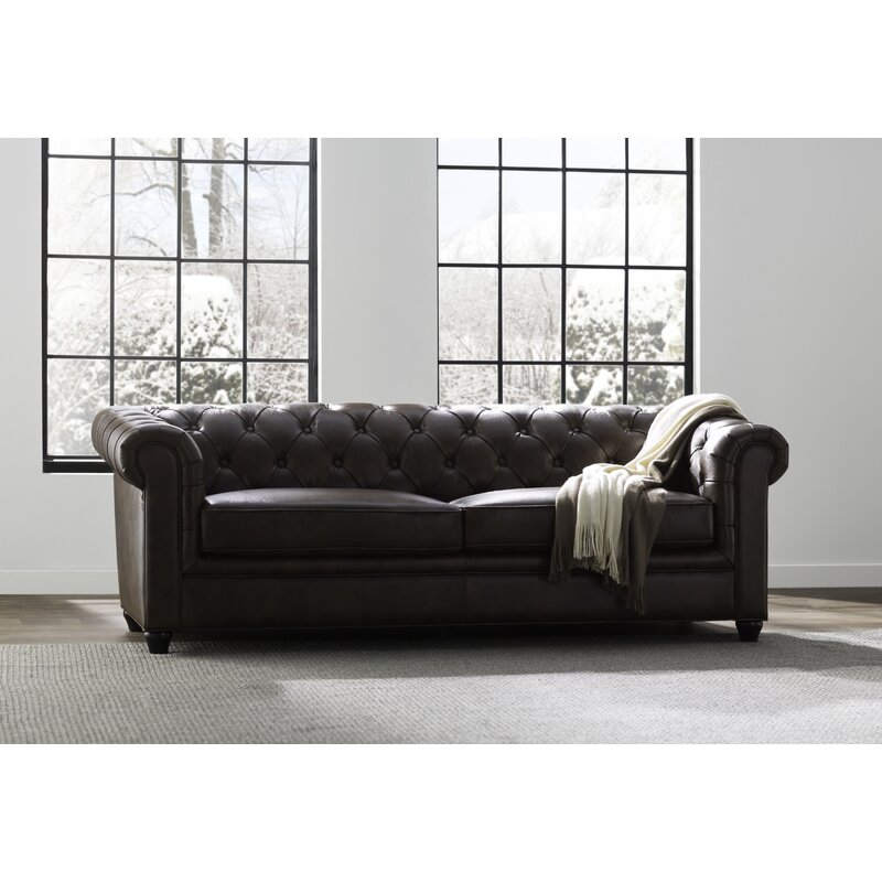 Trent Austin Design Harlem Leather Chesterfield Sofa & Reviews | Wayfair