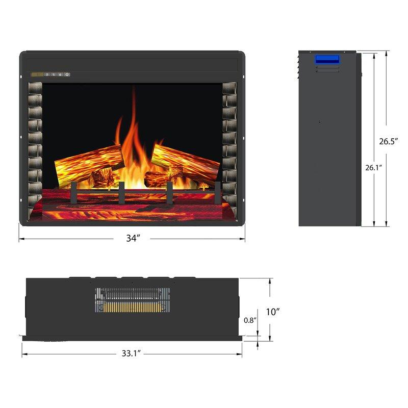 Amazing Wood Burning Electric Fireplace Insert Interior Design Ideas Gresisoteloinfo