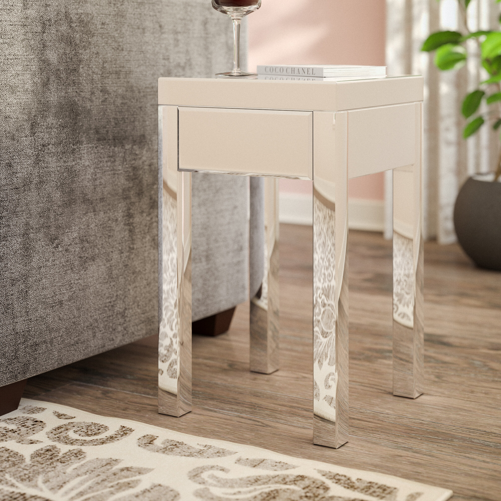 Small Mirrored End Tables