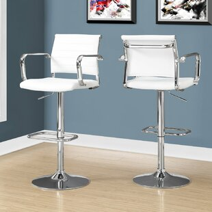Ivanhoe Adjustable Height Swivel Bar Stool (Set of 2)