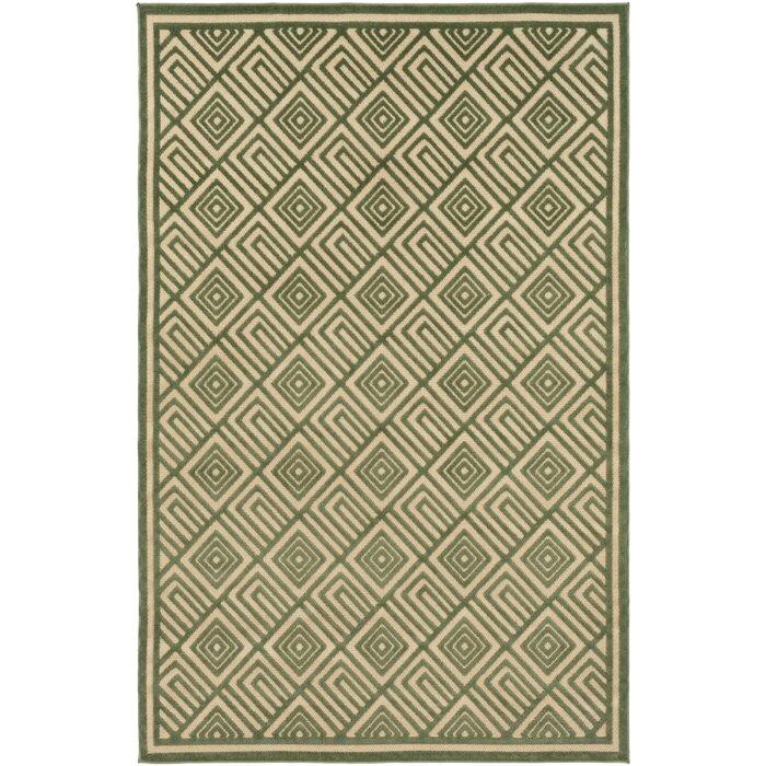 Var Dark Green Khaki Indoor Outdoor Area Rug
