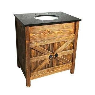 estep barn door 30 single bathroom vanity set - Bathroom Barn Door