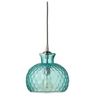 Aqua pendant light wayfair save to idea board aqua mozeypictures Choice Image