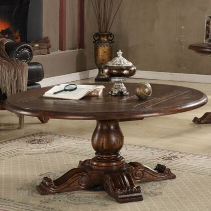 EasternLegends Burgundy Coffee Table | Wayfair