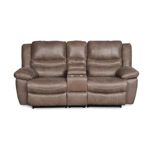Du Reclining Loveseat with Console by Red Ba..