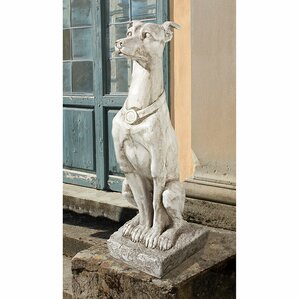 Art Deco Whippet Greyhound Sentinel Dog Statue