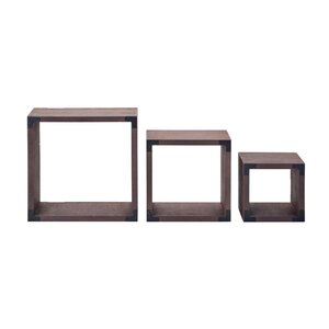 3 Piece Wood Shelves Set