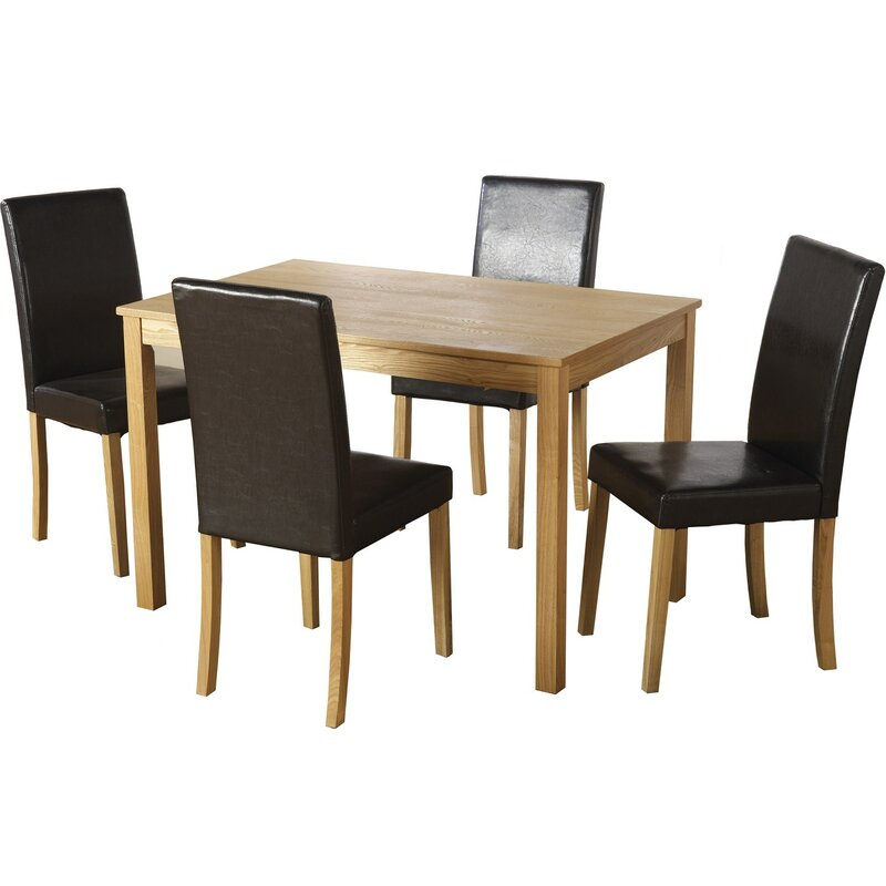 Andover Mills Anns Dining Set With 4 Chairs Amp Reviews