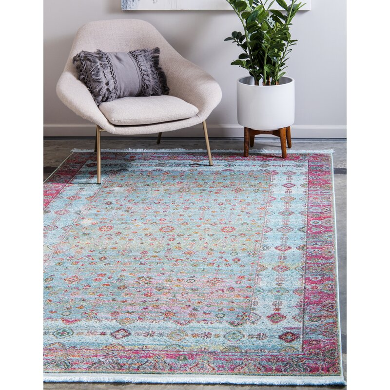 Lonerock European Pink Teal Area Rug Reviews Joss Main