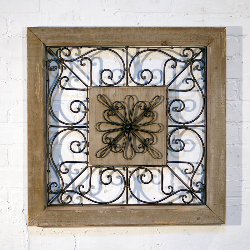 American Mercantile Metal Square Wall Décor & Reviews | Wayfair