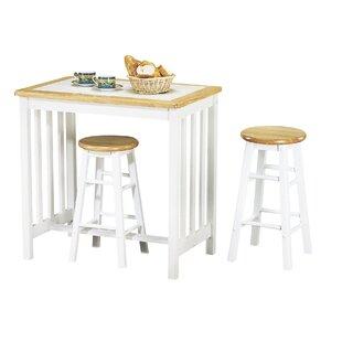 Leeman 3 Piece Counter Height Dining Set