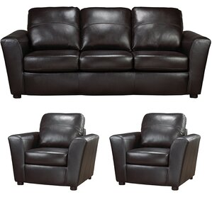 Delta Leather 3 Piece Living Room Set by Coja